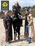 Scippis Black Roo Stockman Coat Reitmantel Regenmantel incl. Imprägnerspray, XS-XXL, braun und schwarz (schwarz, M)