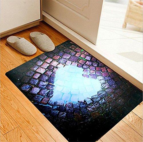 HomJo Matelas antidérapant 3D tapis de porte rectangulaire tapis non-tissé anti-dérapant 40 * 60cm , 3 , 40*60cm