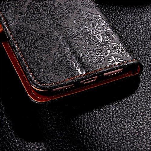 iPhone 7 Custodia,SainCat Custodia in Pelle per iPhone 7,Anti-Scratch Protettiva Caso Elegante Creativa Dipinto Pattern Design PU Leather Flip Ultra Slim Sottile Morbida Portafoglio Custodia Libro Pro grigio scuro