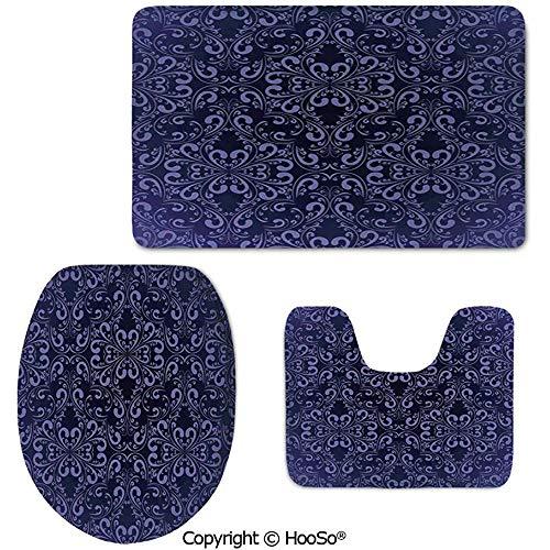 Octavia Ralph Teppich 3 TLG Waschbar Teppich Set, WC Sitzkissen, perfekte Plüschmatten für...