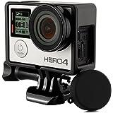 Carcasa protectora de marco estándar + protector de lente UV + tapa de silicona para Go Pro Hero 4 3+ 3