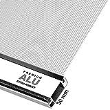 Schellenberg 70060 Insektenschutz-Tür Premium, Fliegengitter mit Rahmen – 100 x 215 cm in weiß, 1 Stück
