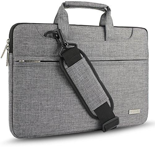 HSEOK Geeignet für Die meisten 15-15,6 Zoll Dell/Ausu/Acer/HP/Toshiba/Lenovo Notebooks Laptops/Notebooks/Ultrabooks[Innenmaße:39 x 28 cm] Wasserresistente,Farbe: Grau