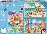 Schmidt Spiele Puzzle 56223 - Standard 3 x 48 Teile Piratenbande