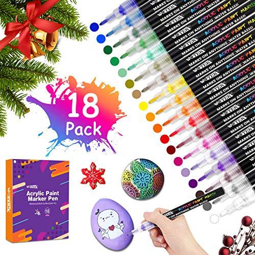 Rotuladores Pintura Acrilica 18 Colores