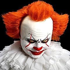 Idea Regalo - Carnival Toys- Parrucca Clown Cattivo C/Calotta in Lattice in Busta C/Gancio 105, Multicolore, 8004761022778
