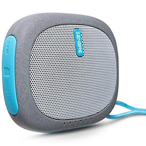 Altavoz Bluetooth, ZENBRE D3 Mini Altavoz Inalámbrico Bluetooth con 20 horas de Tiempo de Reproducción, Banco de Energía y Soporte TFcard (Azul)