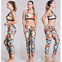 Presidente kit del yoga sexy pantalones ajustados de adelgazamiento sports un juego de ropa interior, envasados ,M