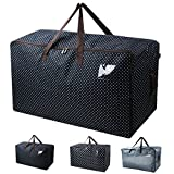 "Waterproof Thick Over-sized Organizer Storage Bag with Strong Handles, Travelling Bag, College Carrying Bag, Camping Bag for Christmas, Festival Decorations, Washable (27.5*16.5*13.8"", Blue)"