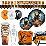 Vajilla para Halloween para 20 personas + Decoración