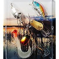 Fladen–5pezzi assortiti e Lago Coast 5g a 8G All Round Spinners–Confezione esche per pesce persico, trota e salmone [16–7579]