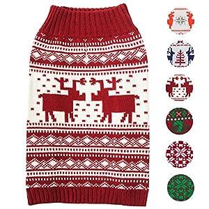 Blueberry-Pet-Vintage-Christmas-Reindeer-Holiday-Festive-Dog-Jumper