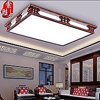 BBSLT Moderno stile cinese oscuramento lampada studio led rettangolare semplice tinta legno camera da letto salotto lampada lampada 850 * 650mm