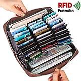 a91e457d47 ALAIX Portafoglio in pelle da donna Portafoglio in pelle RFID che blocca  Multi Passport Cards Organizer