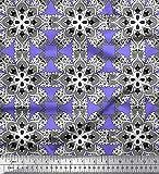 Soimoi Lila Seide Stoff Mandala Kaleidoskop Stoff drucken 1