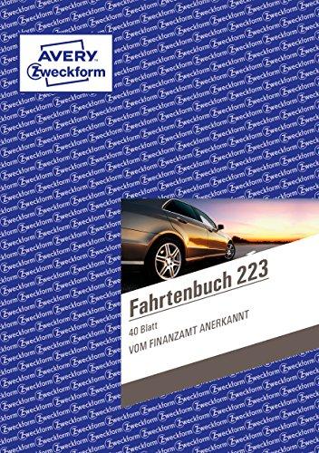 fahrtenbuch obd2 AVERY Zweckform 223 Fahrtenbuch für PKW (A5, 40 Blatt) weiß