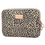Baymate Unisex Tasche Mit Leopard Muster Macbooktasche Für 11.6-15 Netbook / Laptop / Notebook Computer 11.6 Zoll Leopard Braun