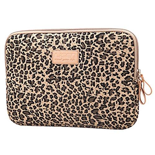 Baymate Donna Borse Per 11.612131415 Pollici Elegance Cartella A Laptop 13 Pollice Leopard Marrone