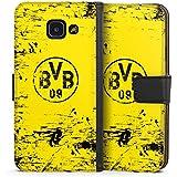 Samsung Galaxy A3 (2016) Flip Tasche Schutz Hülle Walletcase Bookstyle Borussia Dortmund BVB Fanartikel