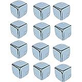Wohlstand Meubelhoeken, metalen hoeken 40 * 40 mm, metalen hoekbescherming tegen stutten, kwartet metalen hoeken, zilver, ver