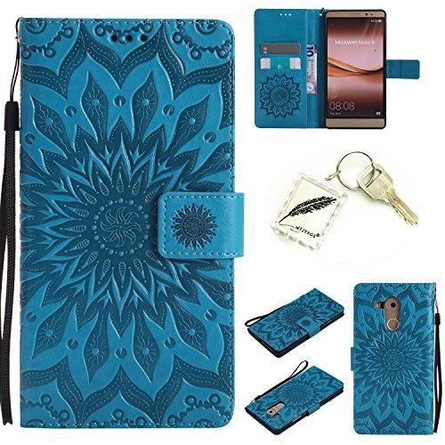 Silikonsoftshell PU Hülle für Huawei Mate 8 (6 Zoll) Tasche Schutz Hülle Case Cover Etui Strass Schutz schutzhülle Bumper Schale Silicone case(+Exquisite key chain X1)#KD (2)