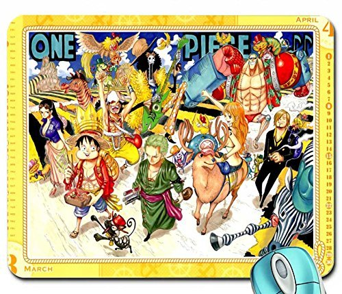 Anime one piece anime calendar anime monkey d luffy 1920x1329 wallpaper mouse pad computer mousepad by Yellow pad