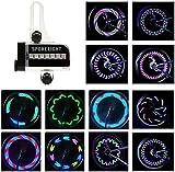 BestFire Bright Bike Wheel Lights Waterproof 14LED (Double Sides) Spoke Light for Night Riding 30 Different Patterns Change