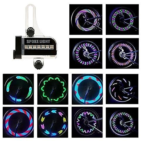 BestFire Bright Bike Wheel Lights Waterproof 14LED (Double Sides) Spoke