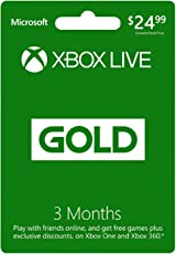 Microsoft: Live Card for Xbox One/360 (Gold Edition) (3 Months)