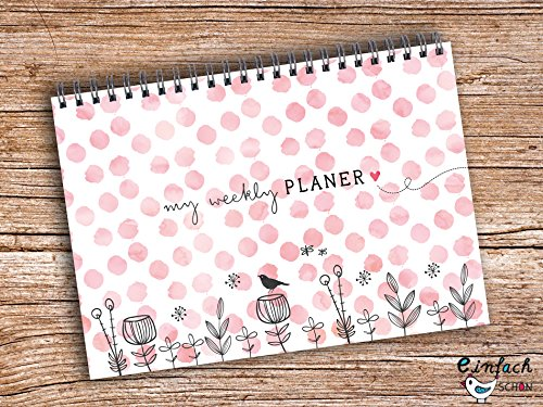 My weekly Planer rosa Ringblock A5 Wochenkalender Block Planer
