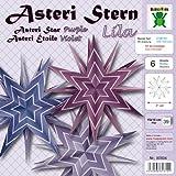 Asteri Stern Gold Weihnachten Fröbel Stern Basteln Advent mit Anleitung Bascetta (purple Violett, Papier)