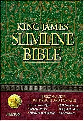 King James Slimline Bible: Blue Bonded Leather