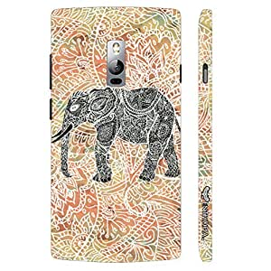 One Plus Two Elephant Art 2.5 designer mobile hard shell case by Enthopia
