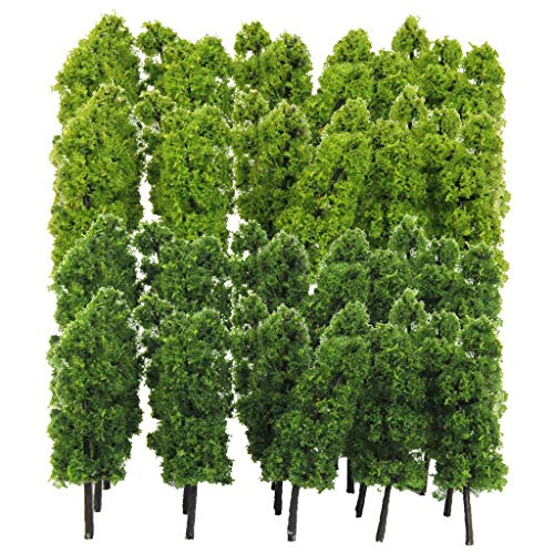 Yundxi Pack of 40 Model Trees 1/150 N Scale DIY Layout Architecture Train Landcape Scenery Accessories