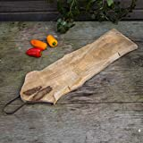 Antikas - Extra langes Schneidebrett aus Holz, rustikales Küchenbrett aus Massivholz