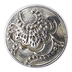 Noosa Chunk 334 Pine tree-silver-metal