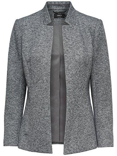 ONLY Damen Blazer onlDonna Short L/S Blazer 15149657, Farbe:Grau, Größe:38 -