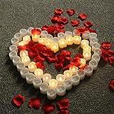 WRMING® LED Kerzen,12 Stück 24 Stück LED Flammenlose Tealights,Flackern Teelichter,Elektrische Kerze Lichter Batterie Dekoration für Weihnachten,Ostern,Hochzeit,Party,12PCS