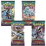 4 x Pokémon Sun & Moon gardiennes Rising Trading Jeu de cartes Booster Pack (4 scellé Packs)
