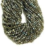 #7: Goyal Impex 1 Strand Natural Plain Labradorite Round Ball Shape Beads Gemstone Full 13