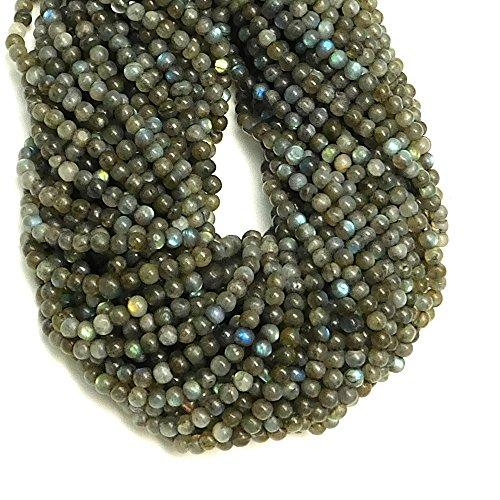 Goyal Impex 1 Strand Natural Plain Labradorite Round Ball Shape Beads Gemstone Full 13\