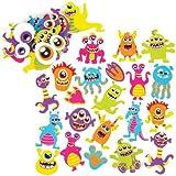 Moosgummi-Aufkleber Weltraum-Monster für Kinder als Bastel- und Deko-Idee für Jungen und Mädchen (120 Stück)