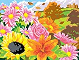 Mammut 8211522 - Painting by Numbers Box Set-Blumen der Saison, je ca. 50 x 40 cm