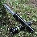 ZHO Outdoor-Taschenlampe Messer Armee multifunktionale Taschenlampe mit Messer wiederaufladbare Langstrecken-Wildnis zu überleben,schwarz,A von ZHO - Outdoor Shop