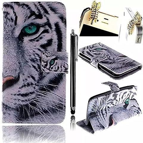 für Samsung Galaxy S4 Mini Hülle, Vandot Weiß Tiger Tier