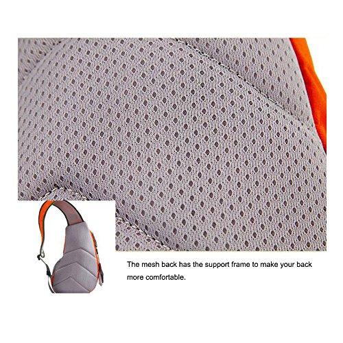 New impermeabile unisex messenger borse donne spalla borse uomo petto Pack Light weight design, Orange Red