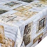 Mantel de hule, mantel, lavable, llaves, madera, tamaño a elegir, plástico, carbón, 100 x 140cm