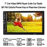 KKmoon Autoradio MP5 Spieler, 7 Zoll 2 DIN Car Video MP5 Player Auto Radio Mit BT FM bunte Power-Taste w/Rückfahrkamera