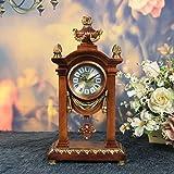DSJ Tischuhr Europäischen Retro Home Decoration Uhr Stille Bewegung Pendeluhr Mode Ideen Antike Uhr
