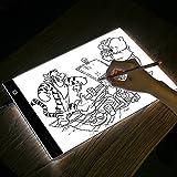 Tableta de luz, tamaño A4, USB, LED, brillo ajustable; para artistas, dibujos, animación